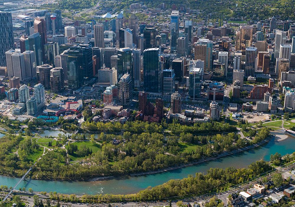Calgary Aerial View