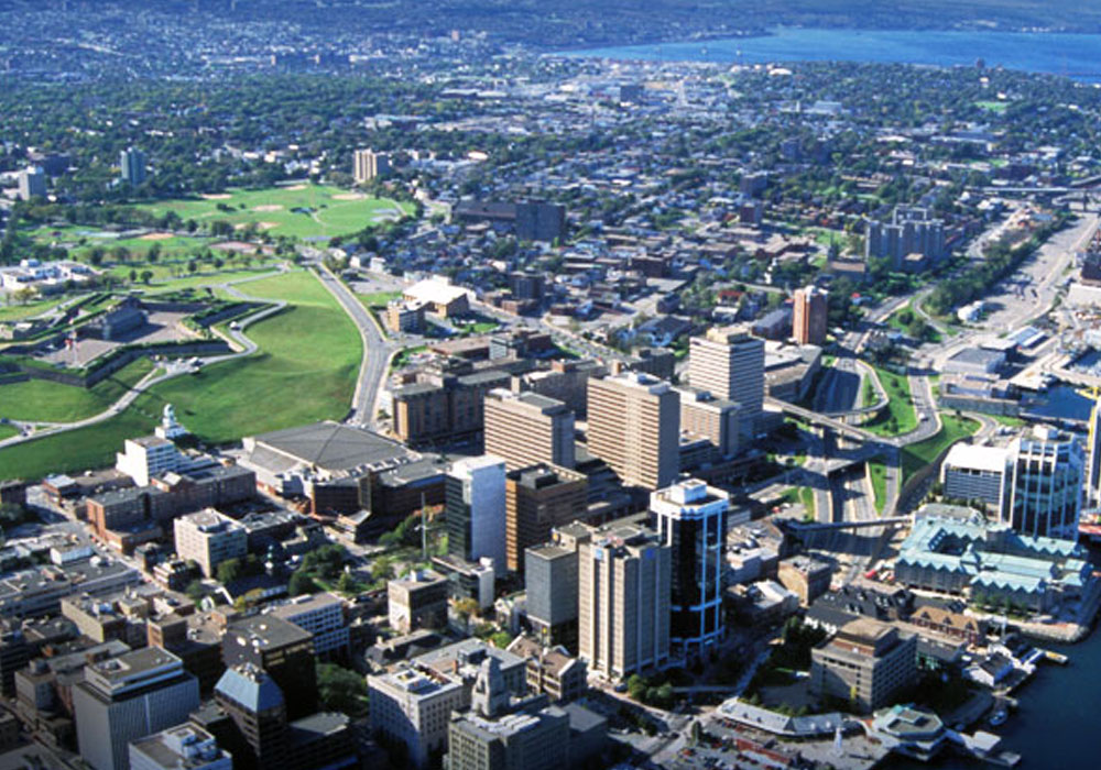 Halifax Aerial View With High Rise Buildings
