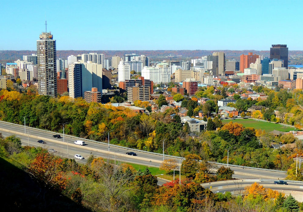 Hamilton Green Aerial View